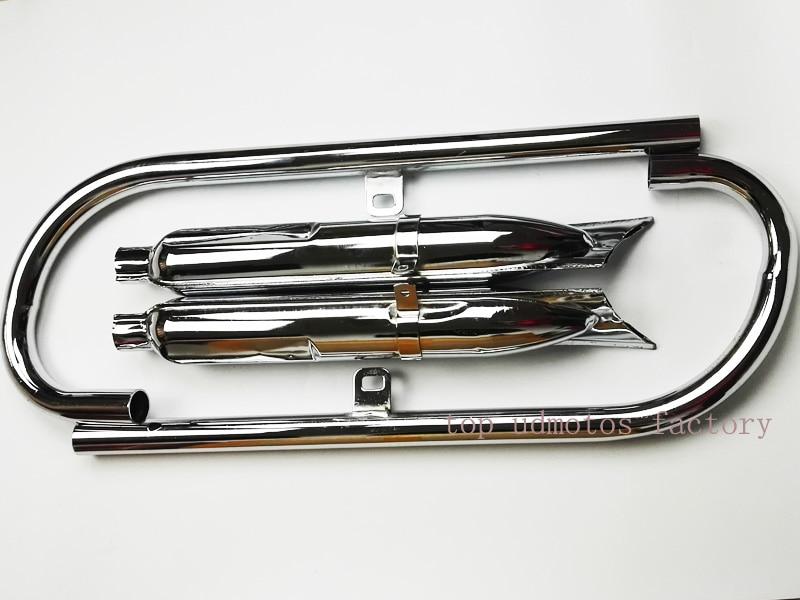 1установите 24П к750 мотоцикл Урал глушитель и выхлопная труба мотоцикла труба глушителя для B-МВт Урал П12 Р71 М72