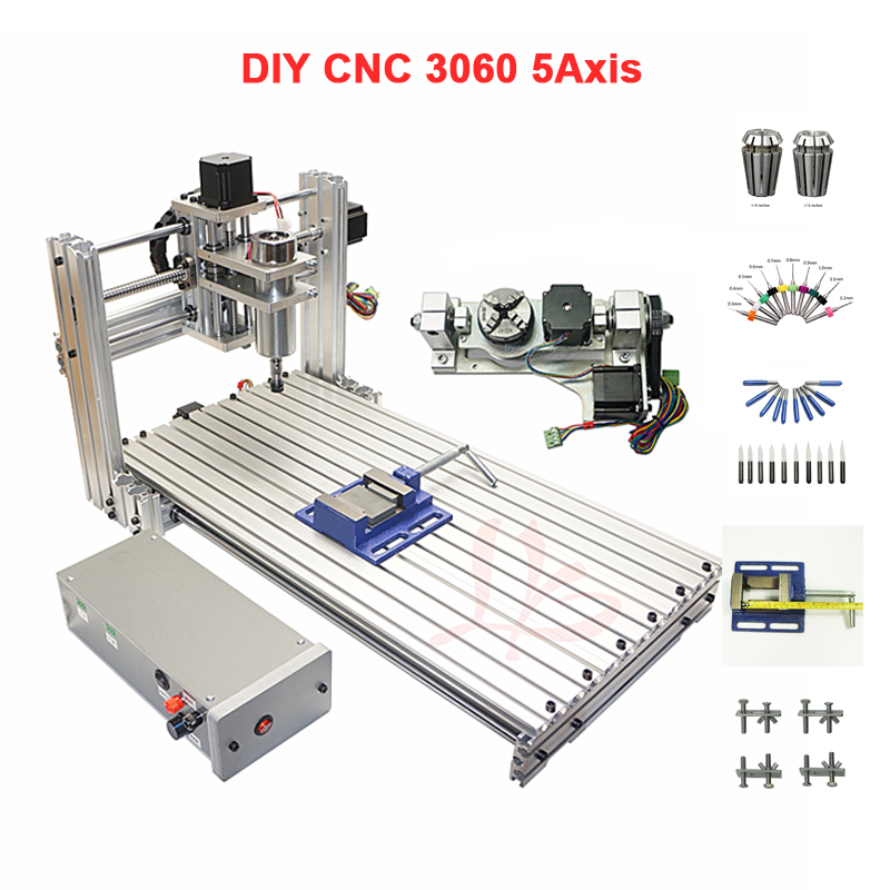 5 axis DIY CNC engraving machine PCB Mini CNC wood router working area 30*60cm5 axis DIY CNC engraving machine PCB Mini CNC wood router working area 30*60cm