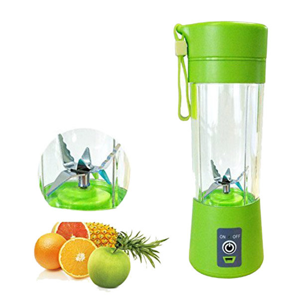 400ML Portable Juice Blender USB Juicer Cup Household Multi function Fruit Mixer Six Blades Mixing Machine Smoothies Baby Food|Blenders| |  - title=