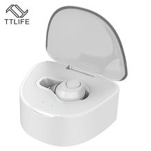 TTLIFE Fashion Mini Wireless Bluetooth 4.1 Earphone Heasset On-cord Control CVC6.0 Noise Cancelling With Mic 430mAh charging box
