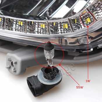 Car External Light headlights For Hyundai Accent Solaris Verna 2010-2013 Daytime Running Light Fogs For Solaris Signal DRL Xenon