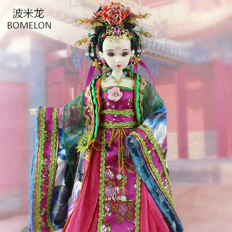 31CM Handmade Bjd Doll Yang Guifei Chinese Tang Dynasty Beauty Doll Brinquedo 12 Jointed Articulated doll Girl Toy Birthday Gift high end handmade chinese dolls ancient costume tang princess jin yang jointed doll articulated kids toys girls birthday gift
