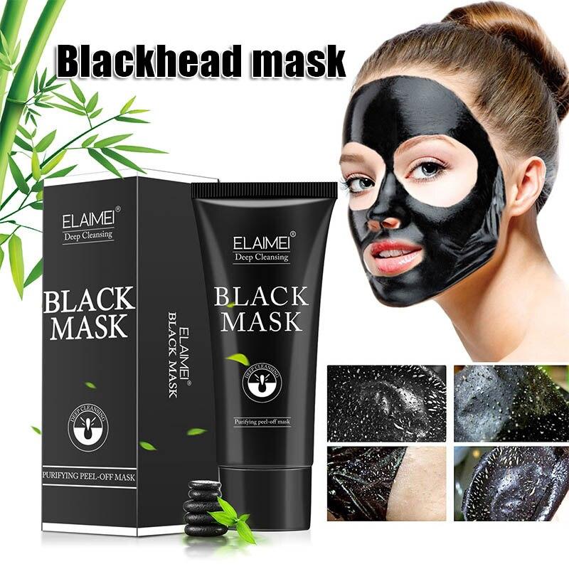 Hot Deep Cleaning Peeling Remove Blackheads Bamboo Charcoal Mask Black Acne Treatment Oil Control Mask SJ66