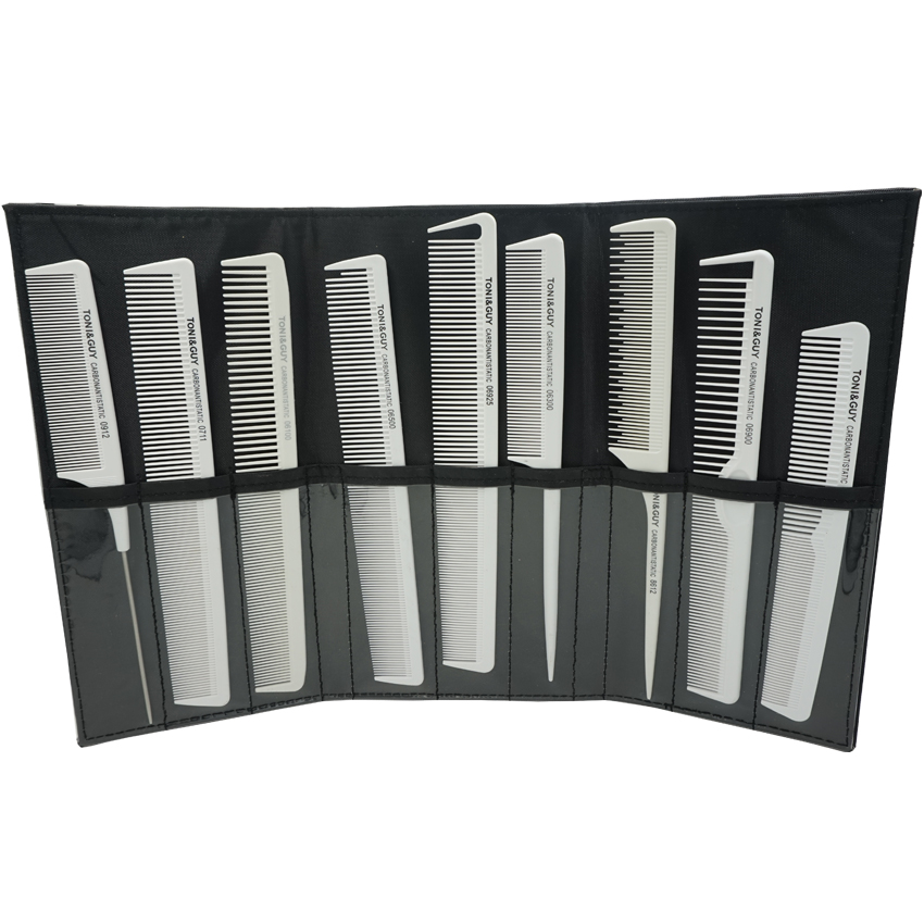 Hairstylist Kegemaran White Hair Antistatic Carbon Comb Set With Comb - Penjagaan rambut dan penggayaan - Foto 3