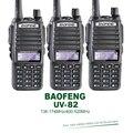3 Unids/lote Doble Banda VHF UHF Dual PTT Llaves Originales 5 W BAOFENG UV-82 Jamón Transceptor de Radio Portátil Auricular Libre