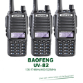 3PCS/Lot Dual Band VHF UHF Dual PTT Keys Original 5W BAOFENG UV-82 Portable Ham Radio Transceiver Free Earpiece