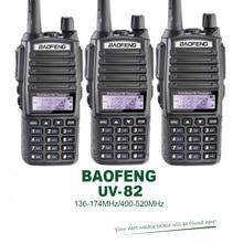 3PCS/Lot Dual Band VHF UHF Dual PTT Keys Original 5W BAOFENG UV-82 Portable Ham Radio Transceiver Free Earpiece