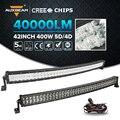 Auxbeam CREE Chips/5D 4D Curvo LEVOU Barra de Luz 42 inch 400 W Led Trabalho Barra de luz de Combinação Vagão Caminhões ATV SUV 4WD 4x4 Offroad Bar Levou