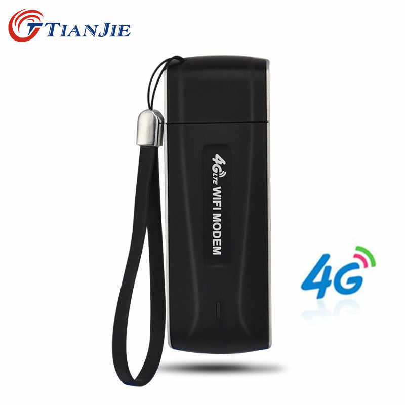 TIANJIE 4G Wifi נתב מודם USB סמארטפון כיס רשת חמה Wi-Fi נתבים אלחוטי מודם עם חריץ כרטיס ה-SIM
