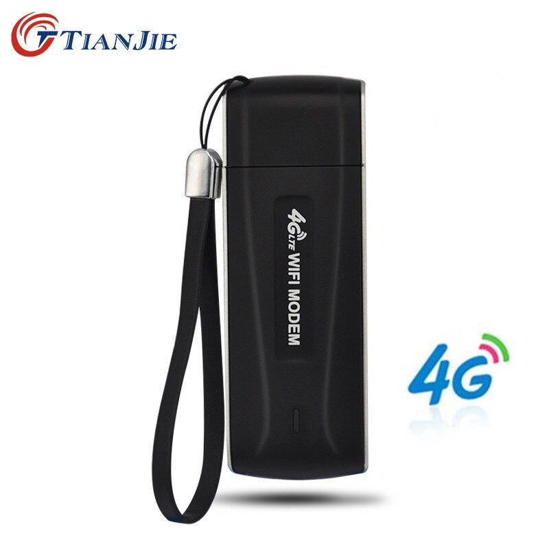 TIANJIE 4G Wifi Router USB modem Unlocked Pocket Network Hotspot Wi-Fi Routers Wireless Modem with SIM Card Slot