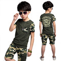 clothing set boys outwear clothes baby sets short t shirt+pants 2 pcs set clothes kids suit 5-13Years Free shipping