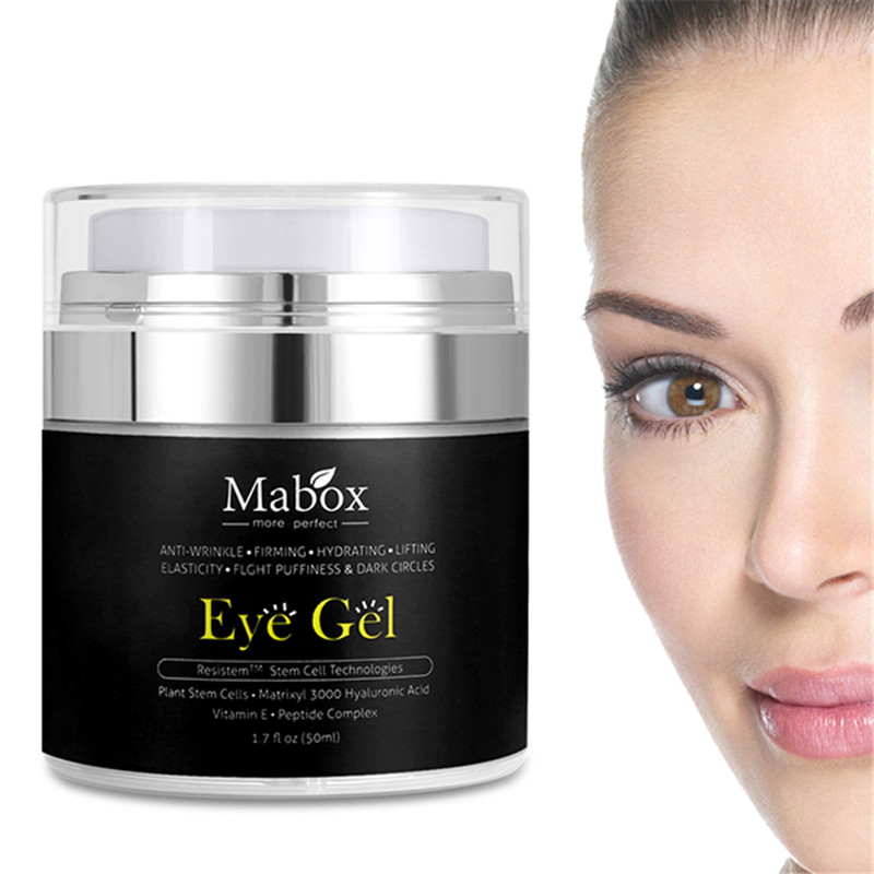 Hydrating Hyaluronic Acid Eye Gel Firming Eyes Cream Dark Circles Remove Anti Puffiness Anti Wrinkle Aging Patches for the Eyes mabox natural eye gel for appearance of dark circles puffiness wrinkles and bags for under and around eyes eye gel essence gel