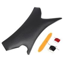 Textura de fibra de carbono para costura a mano, para BMW Serie 3, E90, E91, 325, 320, 318, para manija de Panel de puerta, cubierta de cuero de microfibra