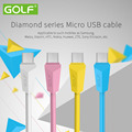 5 pieces Micro-MK Diamond Usb Cable Data Sync And Charging for Samsung HTC Nokia Huawei ZTE