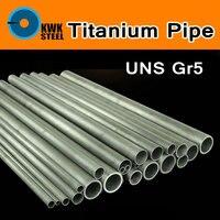 Titanium Alloy Pipe Tubular UNS Gr5 TC4 BT6 TAP6400 Titanium Ti Round Seamless Tube Tubing Piping DIY Material Anti-corrosion