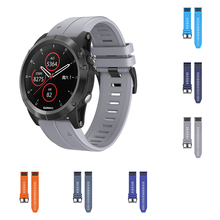 22mm Silicone Original Sport Watch Band For Garmin Fenix 5 Sports Smart Tabby Belt Replacement New Strap