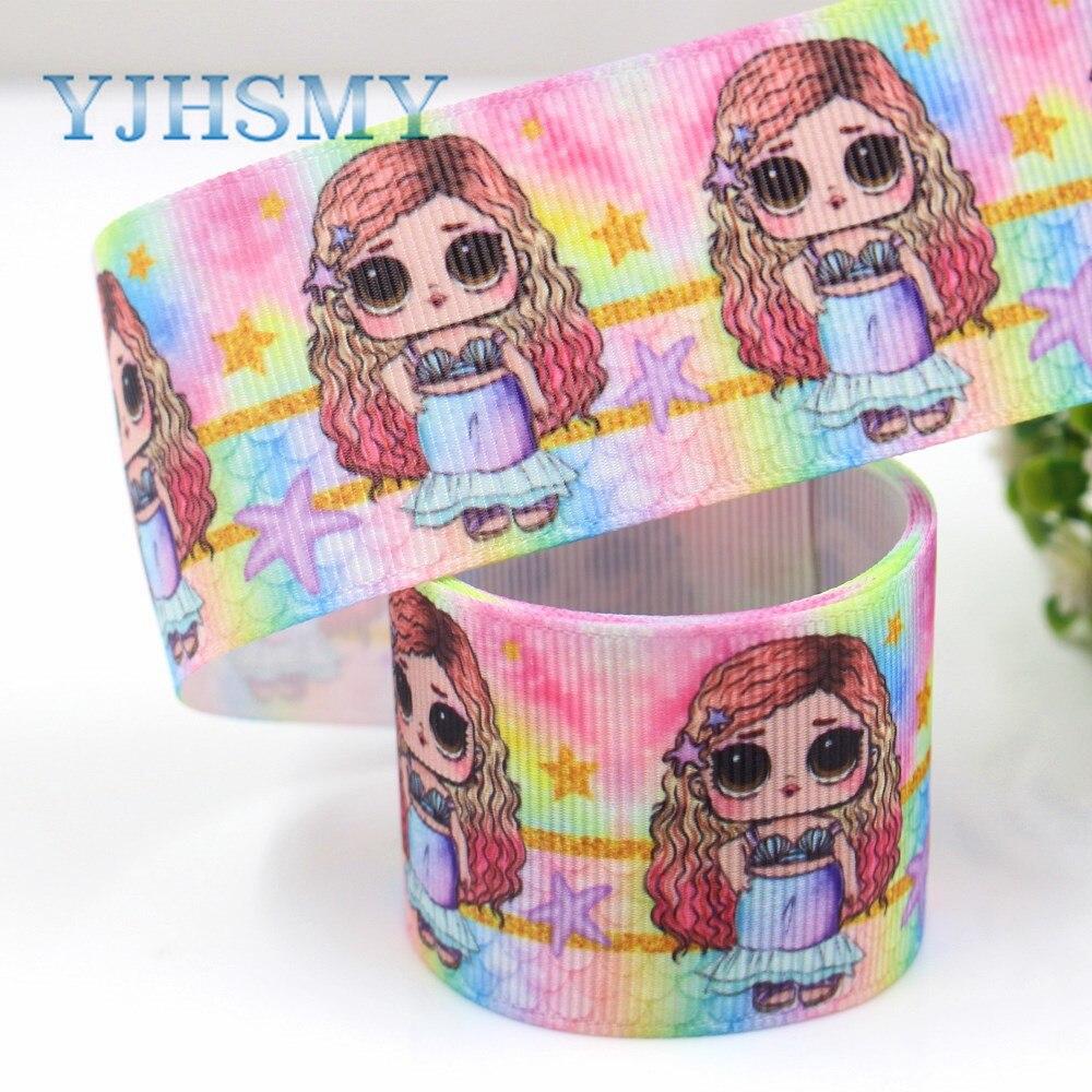 YJHSMY G-181005-1315, 10 размеров 38 мм большие глаза ленточки для девочек Термальность передачи печатных grosgrain, поделки ручной работы, подарочная упаковка материалов