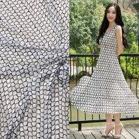 High - grade silk Burnt - out raw silk fabrics spring and summer dress shirts silk mulberry silk clothing fabrics