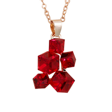 ROXI Fashion Geometric Jewelry Sets Colar Necklaces & Pendants Stud Earrings Red Stones Punk Suspension Jewelry Set For Women