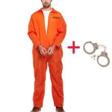 Мужской комбинезон для заключенного, оранжевый комбинезон, костюм для Хэллоуина