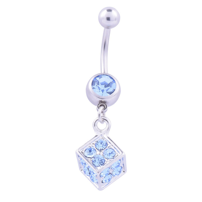 Sexy Dangle Belly Bars Belly Button Rings Belly Piercing Cz Crystal Snow Flower Body Jewelry -1572