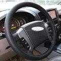 Caso para KIA Sorento velho modelos 2007 volante cobre couro Genuíno Mão DIY ponto capa estilo Do Carro decoração de Interiores