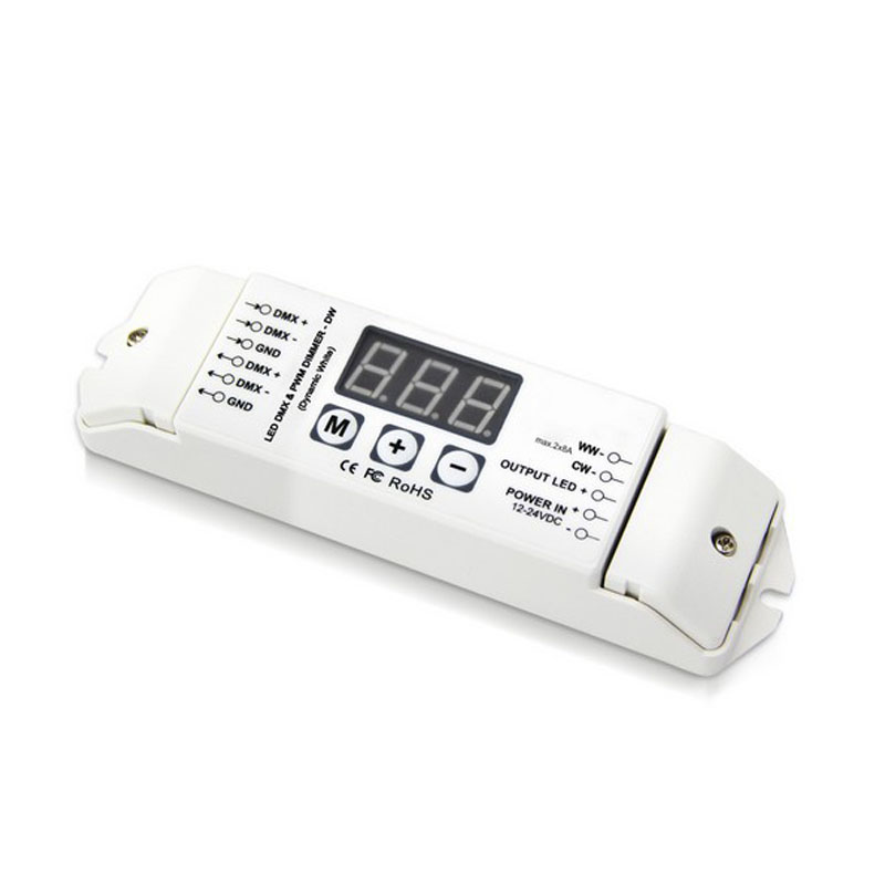 10X Wholesale 2CH dimmer DMX512 color temperature LED strip PWM DMX512 master controller express free shipping