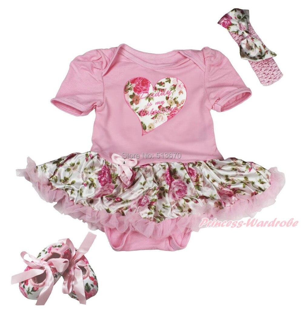2ee37f0e2 ᗔPapa is valentijnsdag hart bodysuit rose pettiskirt baby jurk ...