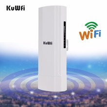 KuWfi1.5km 2.4Ghz 150Mbps Wireless Outdoor CPE Wireless Bridge 12dBi Antenna Wifi Repeater Wireless Router for Camera Monitoring