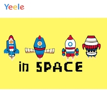 Yeele Wall Decor Photocall Universe Spaceship Cute Photography Backdrops Personalized Photographic Backgrounds For Photo Studio