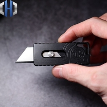цены EDC Trapezoidal Utility Knife Personality Portable Mini Knife Open Box Multi Tools With Back Clip Ultralight Paper Cutter Knife