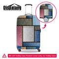 Dispalang personalizado personalizado carrinho de bagagem covers projeto original denim impressão capa protetora capas acessórios de viagem