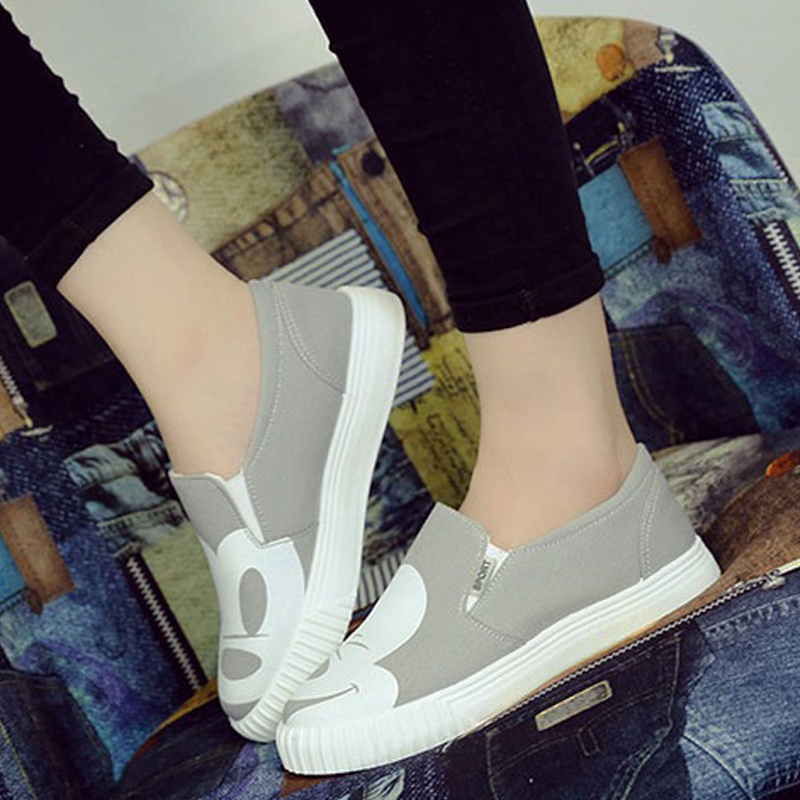 2016 Summer Shoes Sanglaide Autumn Women Fashion Slip On Woman Flat Casual Shoe Canvas Leisure Espadrilles Slipony Student Shoes e lov women casual walking shoes graffiti aries horoscope canvas shoe low top flat oxford shoes for couples lovers