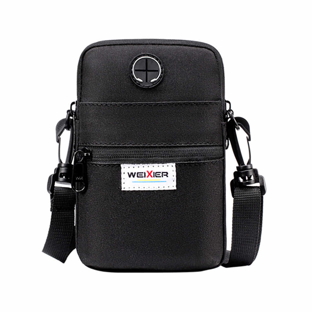 High Quality Men Diagonal Mini Shoulder Multi-Function Mobile Phone Bag Outdoor Sports Bag Hangbag