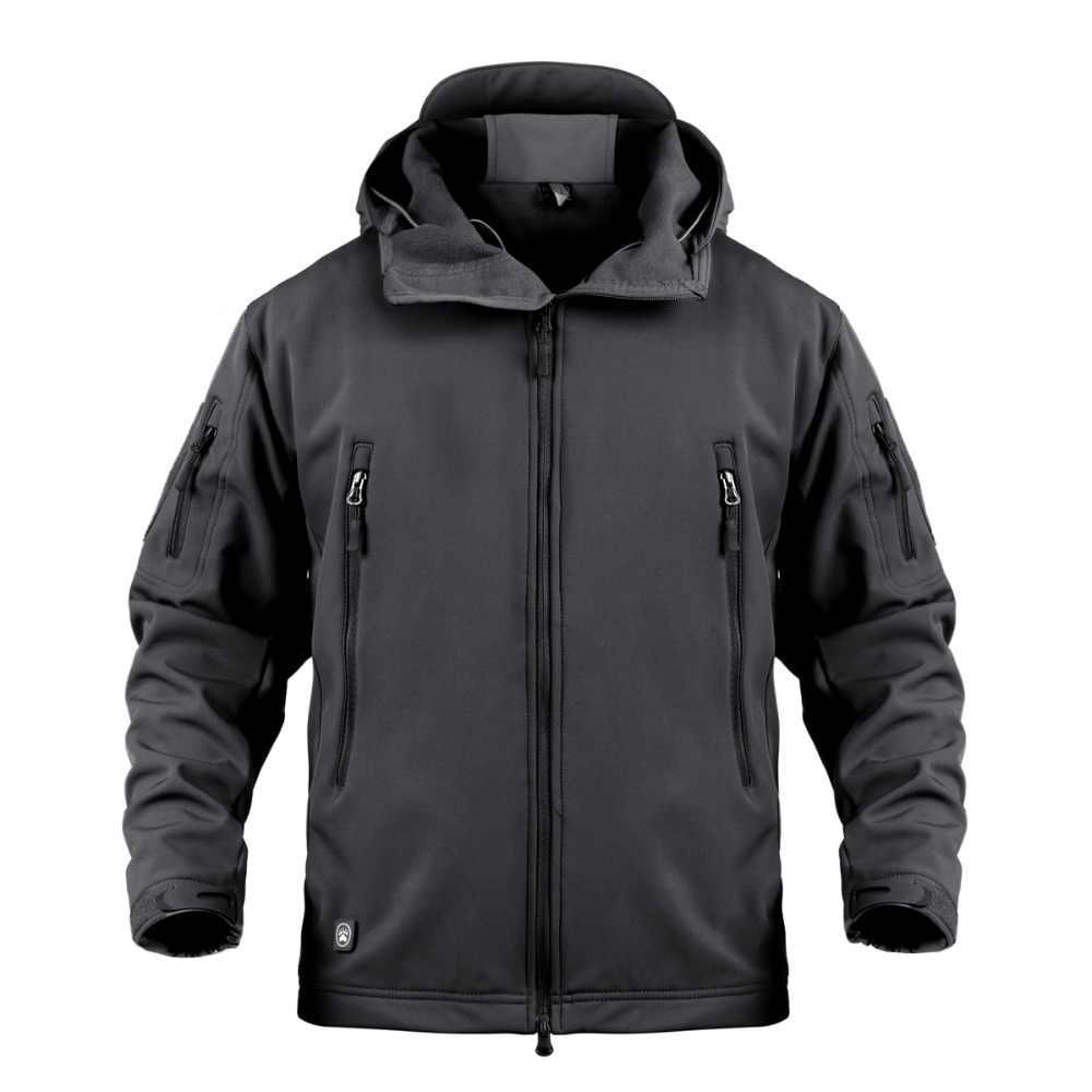 男性の防水通気性迷彩戦術的なジャケットの冬の屋外サイクリングスキーハイキング登山暖かいフリース防風コート