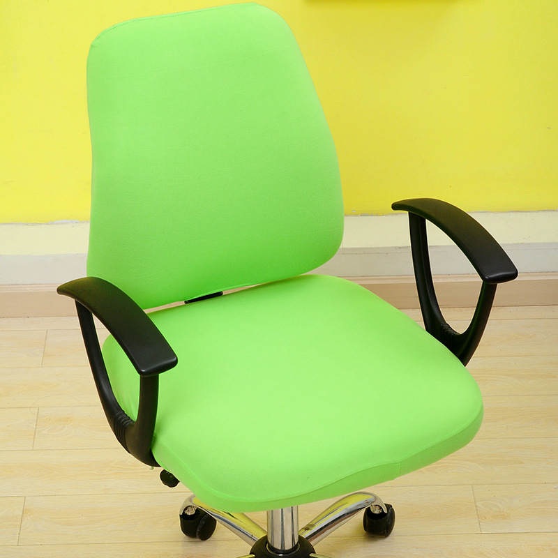 Solid Color Office Chair Covers Comfortable Seat Slipcovers Computer ...