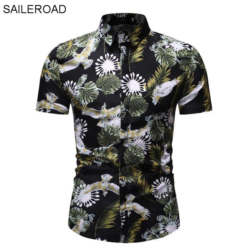 Saileroad 2020 moda camisa de flores camisas