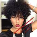 Cheap Synthetic short kinky curly wig African American Wigs Fiber Short Afro Kinky Curly Hair Wigs for Black Women Free Shipping