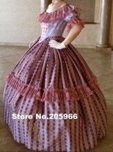 CUSTOM MADE 4 pieces 1800s Tartan Victorian Bridal Civil War Steampunk Plaid Ball Gown Dress Theater