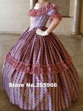 CUSTOM MADE 4-pieces 1800s Tartan Victorian Bridal Civil War Steampunk Plaid Ball Gown Dress/Theater Dress/Holiday Costume