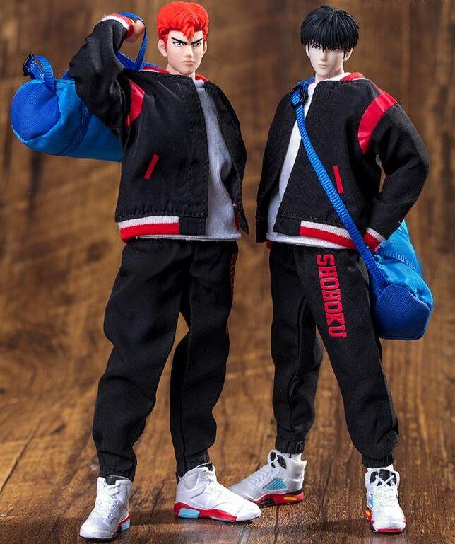 كبيرة اللعب Dasin Hanamichi Sakuragi Rukawa Kaede الذي عمل الشكل سلام دنك GT لعبة مجسمة الشتاء التدريب الملابس زي مدرسي-في شخصيات دمى وحركة من الألعاب والهوايات على  مجموعة 1