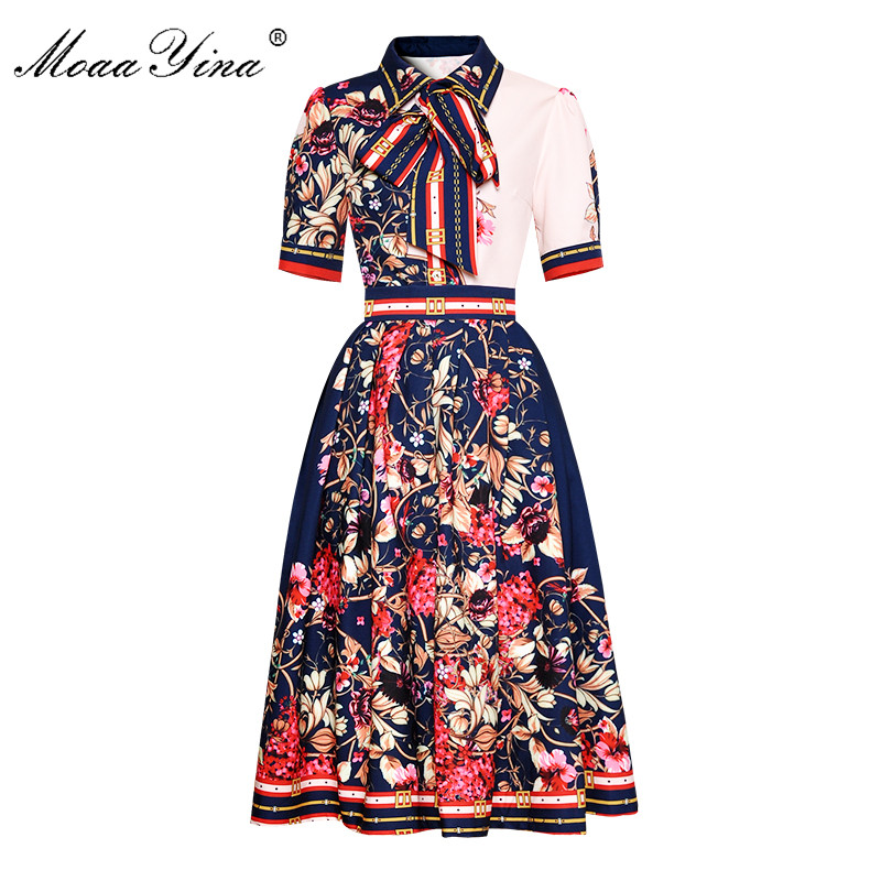 Designer Runway Dress High Quality 2019 Women Butterfly Sleeve Deep V neck Leopard Print Maxi Long