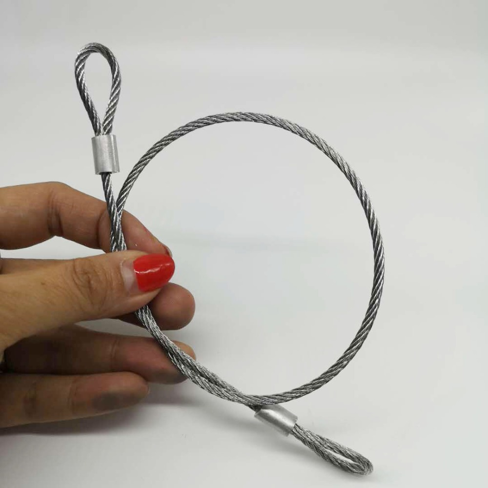 50M 1.2mm Diameter 304 Stainless Steel Wire Rope Softer Fishing Lifting Cable 7X7 Structure 1.2mm Diameter