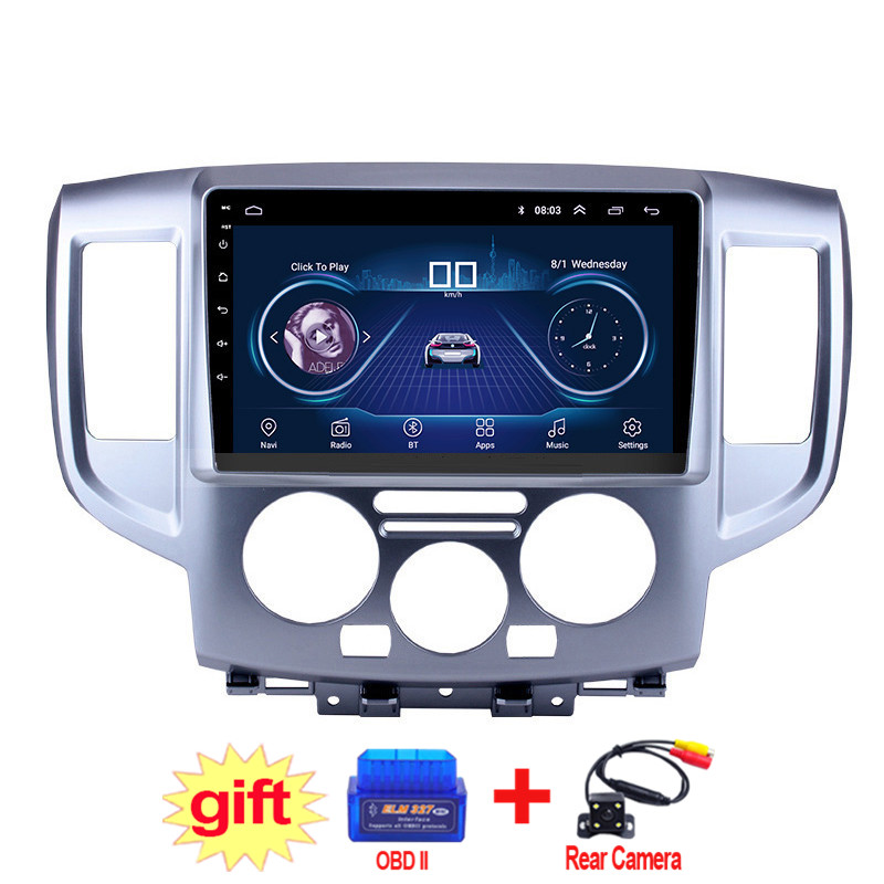 9inch IPS and 2.5D Touch Screen Android 8.1 Car DVD GPS Navigation for Nissan NV200 2014 2015 2016 2017 2018 Radio Audio Stereo