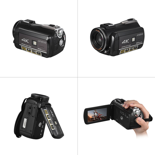Andoer AC3 4K UHD Portable Digital Video Camera Camcorder DV Recorder 30X Zoom WiFi Connection 3.1 Inch IPS LCD Touchscreen 3