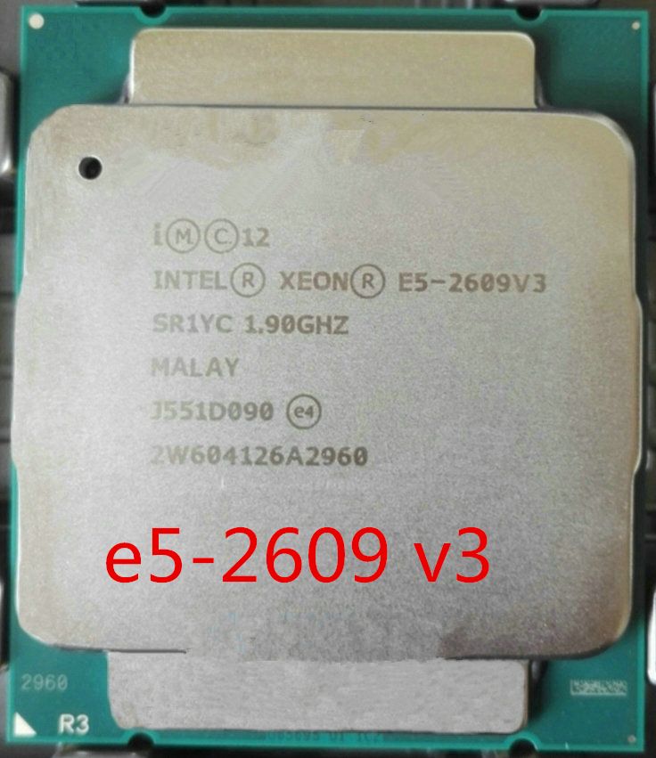 Original Intel Xeon Processor E5 2609 <font><b>V3</b></font> (1.9GHZ/15MB/85W/) LGA2011 Server Desktop <font><b>CPU</b></font> image
