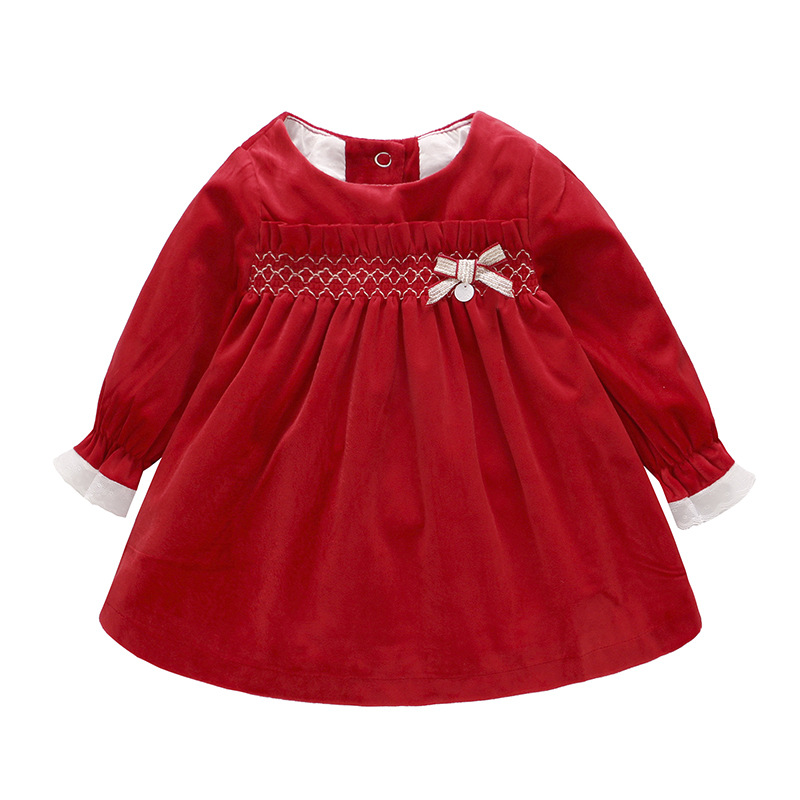 Spring 2019 Pink Red Gold Velvet Princess Baby Girls Dress Toddler Girl Dresses Girls Christmas Dress Kids Dresses for GirlsSpring 2019 Pink Red Gold Velvet Princess Baby Girls Dress Toddler Girl Dresses Girls Christmas Dress Kids Dresses for Girls