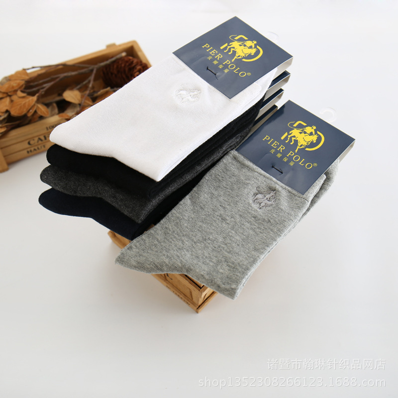 Hot seller New PLER Polo Socks Men autumn and Winter Mens Socks Pure cotton Socks Brand Mens Socks