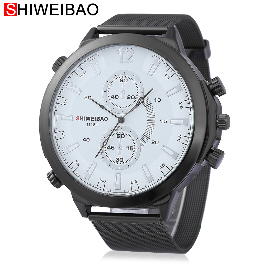 Watch Men Military Watches Army Top Brand Luxury Mens Quartz Wristwatches Black Steel Mesh Watchband Sport Relojes Hombre XFCS