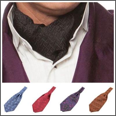 SHENNAIWEI New High Quality Paisley Floral Ascot Cravat Casual Jacquard Ties Ascot Cravat Tie
